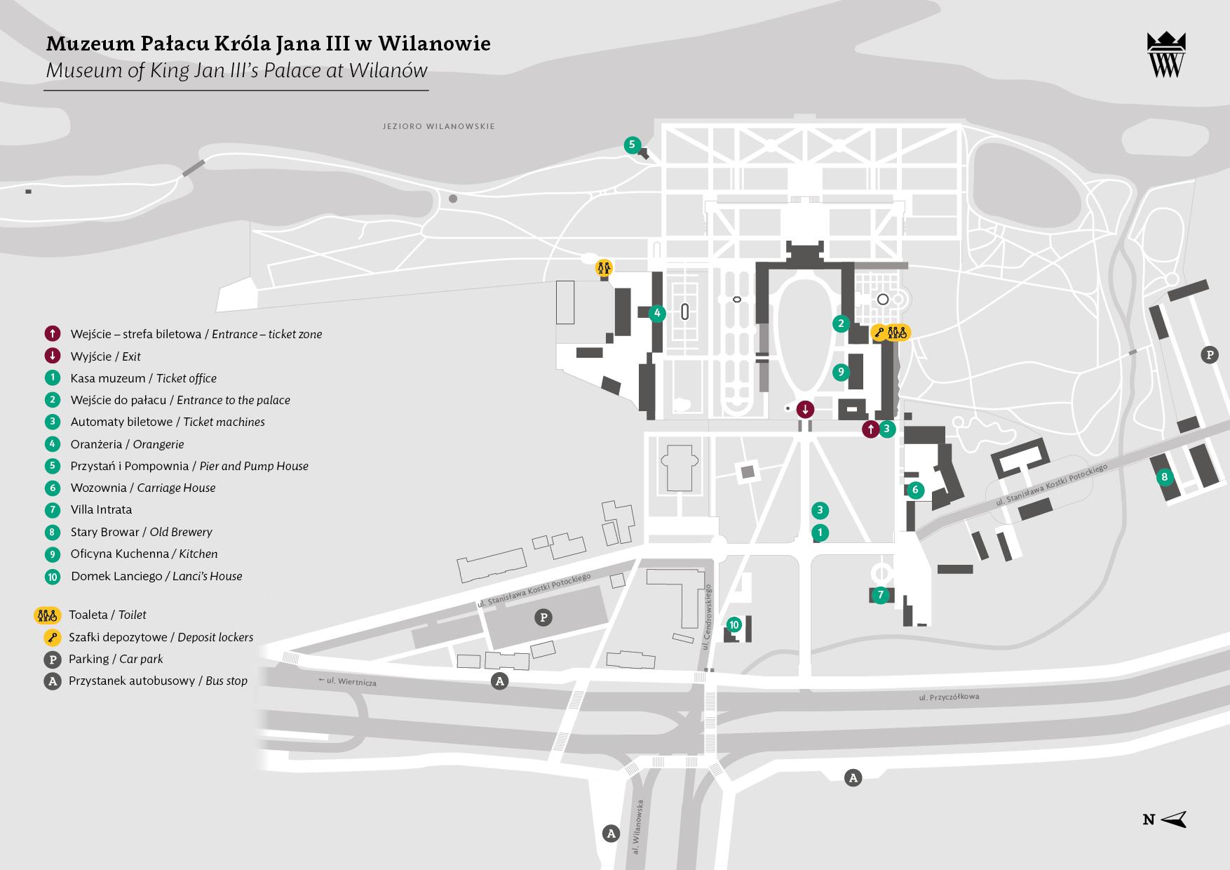 Plan terenu muzeum