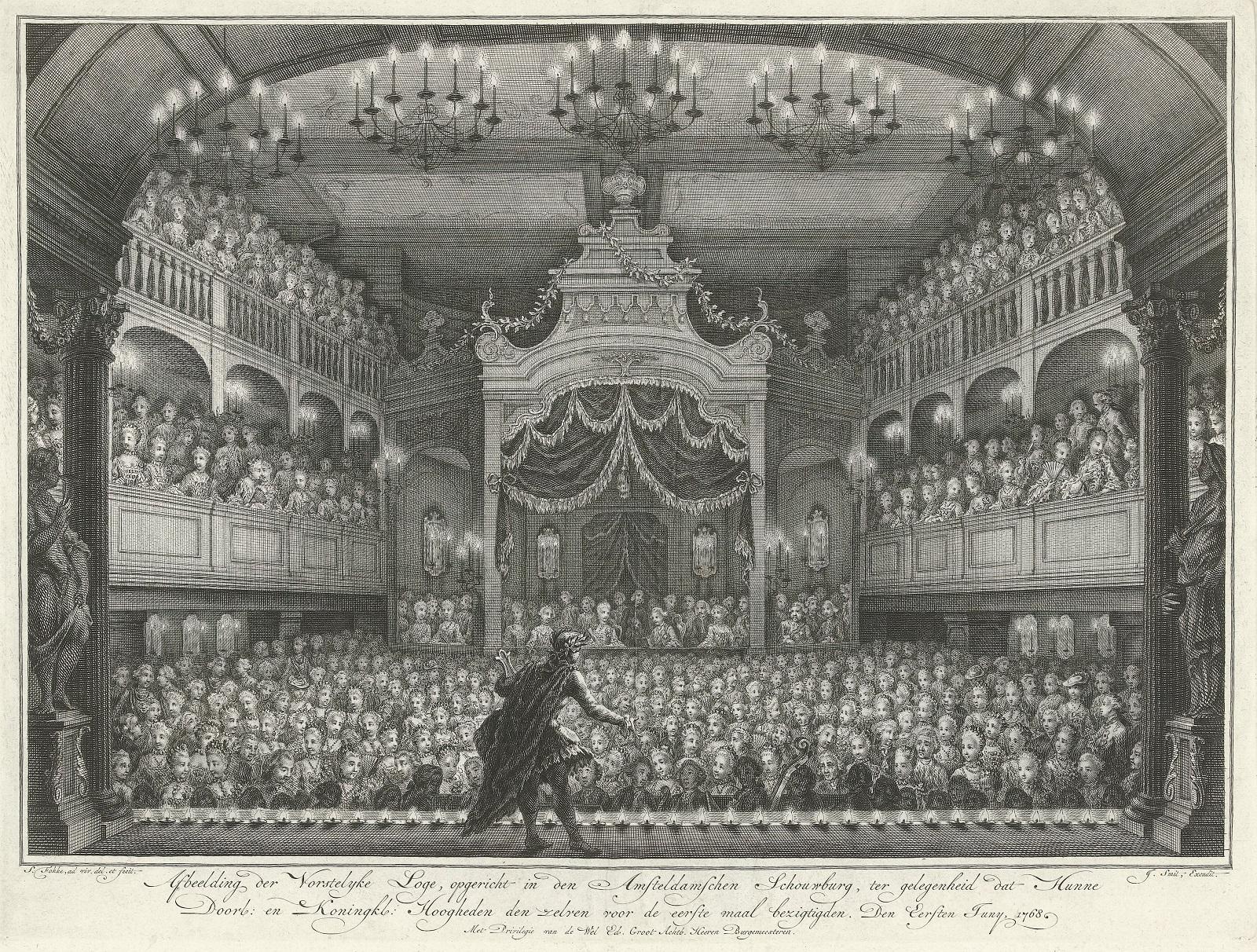 Wnętrze XVIII wiecznego teatru