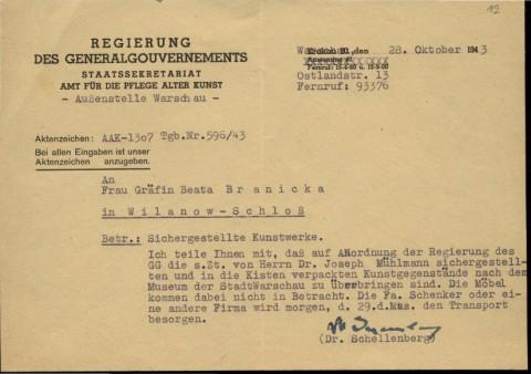 Akcja zabezpieczania przez Niemców zbiorów wilanowskich lata 1939-1944_DA.86 Wil-k12.jpg
