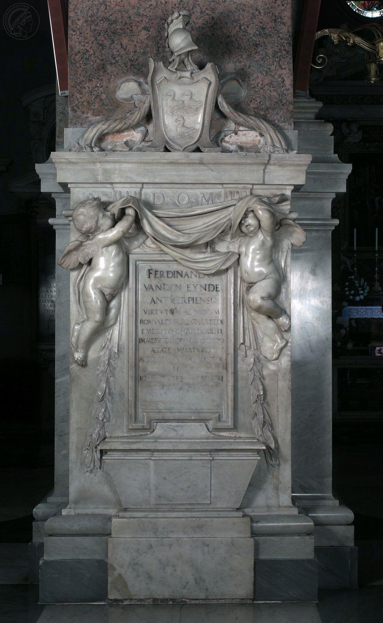 Epitafium Ferdinanda van den Eynde w kościele Santa Maria dell'Anima