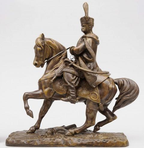 Figurka Jana III na koniu, wyk. Piotr Thies, ok. 1848 fot. Z. Reszka.jpg