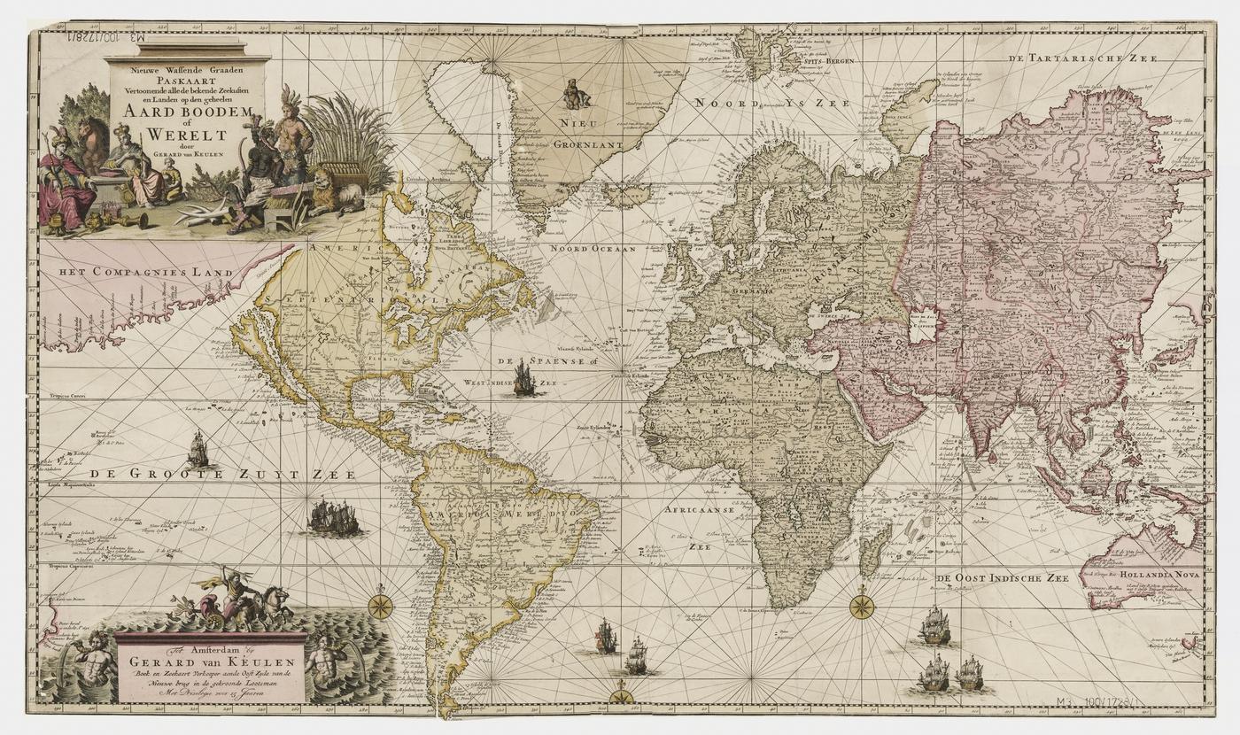 Mapa świata z 1728 roku