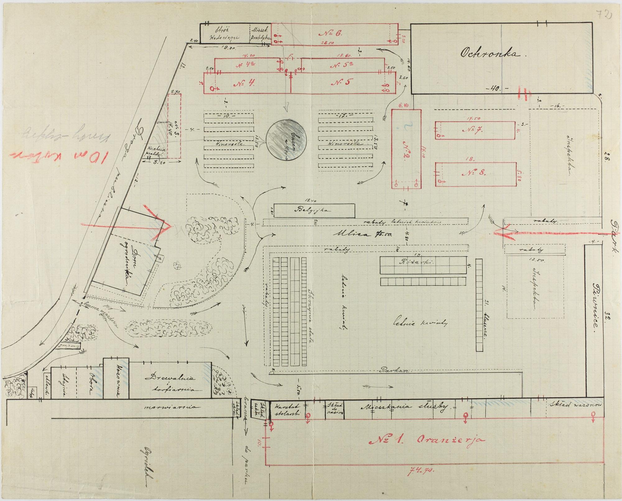 Plan wilanowskiego ogrodnictwa