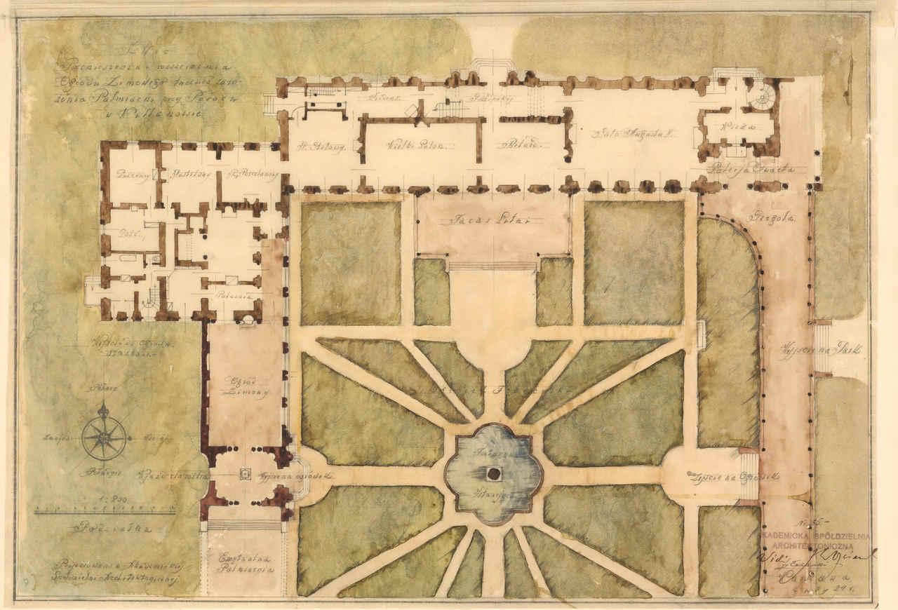 Szkic przeniesienia i rozszerzenia ogrodu zimowego