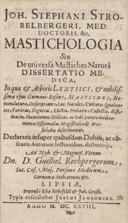 Strona tytułowa z Mastykologii