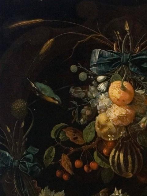 Martwa natura z kwiatów i owoców (fragment), Abraham Mignon, 2 poł, XVII w., Muzeum Pałacu Króla Jana III w Wilanowie_królewskie menu.jpg
