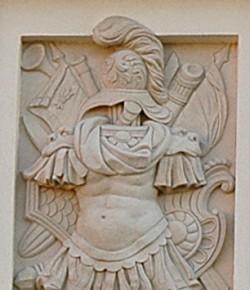 Panoplia z elewacji pałacu w Wilanowie