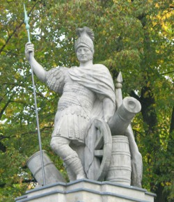 Mars, figura z bramy pałacu w Wilanowie