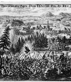 Bitwa pod Komarnem, rycina ze zbiorów Biblioteki Narodowej
