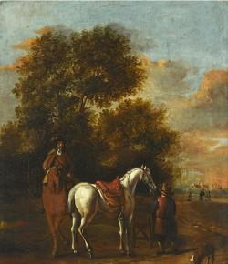 Jeźdźcy na le krajobrazu, obraz niderlandzki z kolekcji Muzeum Pałacu w Wilanowie, fot. Z. Reszka