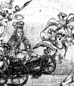Autor nieokreślony, Rycina na okoliczność ślubu Jakuba Ludwika Sobieskiego.