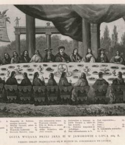 Uczta w Jaworowie wg XIX-wiecznej grafiki
