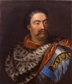 Jan III w skórze lamparciej, mal. Jan Tricius?, ok. 1680