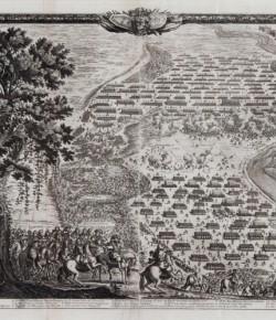 Bitwa pod Warszawą, dzień 1, rycina wg Erika Dahlbergha