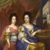 Maria Kazimiera z Teresą Kunegundą, mal. Jerzy Eleuter Szymonowicz-Siemiginowski, ok., 1690