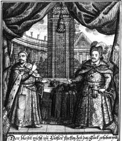 Portret alegoryczny Jana Kazimierza i Jana III, ze zbiorów Biblioteki Narodowej
