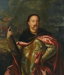 Jan III Sobieski na tle bitwy, z kolekcji Muzeum Pałacu w Wilanowie