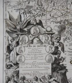 Mapa dorzecza Dunaju, z kolekcji Muzeum Pałacu w Wilanowie