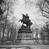Pomnik konny Jana III jeszcze w Wilanowie