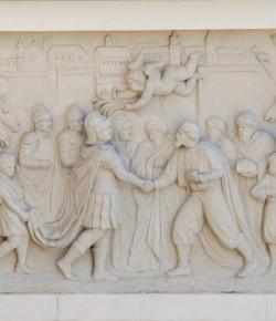 Pokój w Żórawnie, płaskorzeźba z fasady pałacu w Wilanowie, fot. A. Indyk