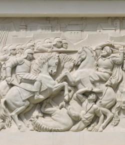 Bitwa pod Lwowem, płaskorzeźba z fasady pałacu w Wilanowie, fot. A. Indyk