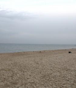 Plaża w Sopocie w grudniu