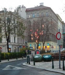 Sobieskiplatz w Wiedniu, fotografia z Google Street View