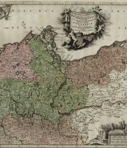 Mapa Brandenburgii, przed 1696, Boblioteka Narodowa
