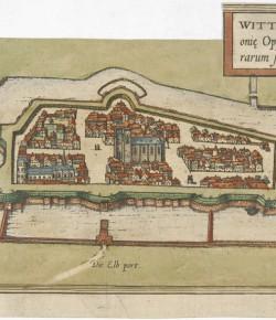 Widok Wittenbergi, 1572, Biblioteka Narodowa