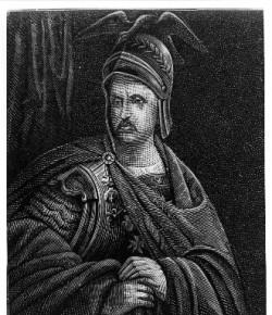 Jan III Sobieski w podeszłym wieku, grafika z XIX wieku