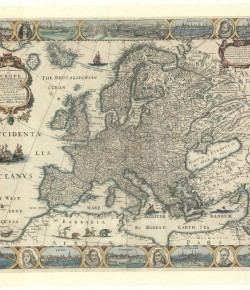 A new and most exact map of Evrope...(Nowa i najdokładniejsza mapa Europy...), Londyn po 1665; Biblioteka Narodowa