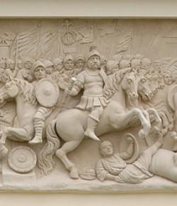 Bitwa pod Chocimiem, płaskorzeźba z fasady pałacu w Wilanowie