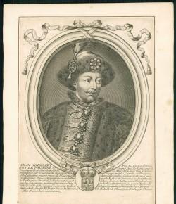 Nicolas de Larmessin, Iean Sobieski Par la Grace de Dieu Roy de Pologne, Paryż, Pierre Bertrend, 1674-1678; egzemplarz ze zbiorów Biblioteki Narodowej