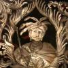 Stół do gry Maksymiliana Emanuela z portretami zwycięzców spod Wiednia, © Bayerisches Nationalmuseum w Monachium, detal: portret Jana III Sobieskiego,  fot. Sybe Wartena