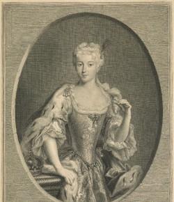 Pierre-Imbert Drevet, Portret Marii Klementyny Sobieskiej, The National Galleries of Scotland