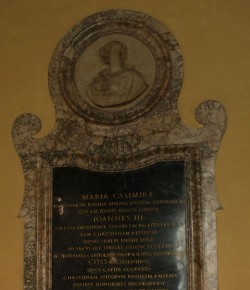 Tablica upamiętniająca Marię Kazimierę, Palazzo dei Conservatori; © Roma, Sovrintendenza Capitolina ai Beni Culturali