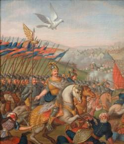 Bitwa pod Wiedniem, XIX-wieczny obraz malowany na podstawie dzieła Martino Altomontego
