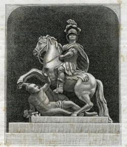 Pomnik Jana III w Łazienkach w XIX-wiecznej grafice