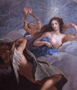 Maria Kazimiera jako Jutrzenka na plafonie