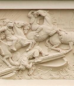 Bitwa pod Parkanami (druga), płaskorzeźba z fasady pałacu w Wilanowie, ok. 1690